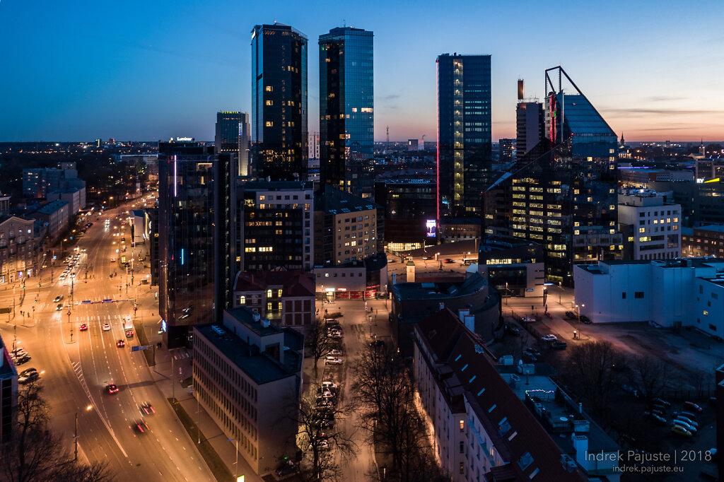 Tallinna pilvelõhkujad õhust