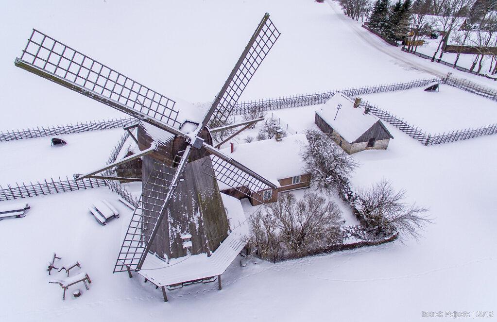 Üks Angla tuulikutest talvel