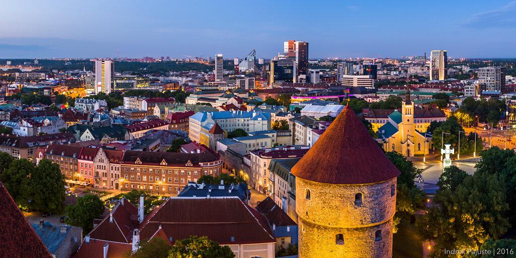 Panoraam vaatega vanalinnale