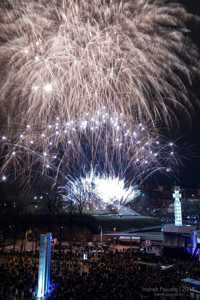 Aastavahetus 2017 -> 2018 Vabaduse väljakul