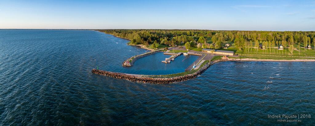 Panoraam Soela sadamast Saaremaal